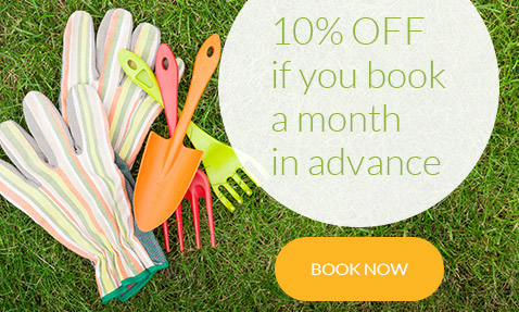 London customers gardening service offer book a month in advance